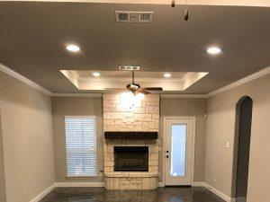 custom home fireplace texas
