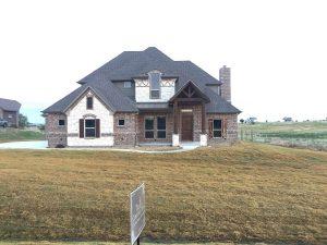 Custom home brick Sanger TX